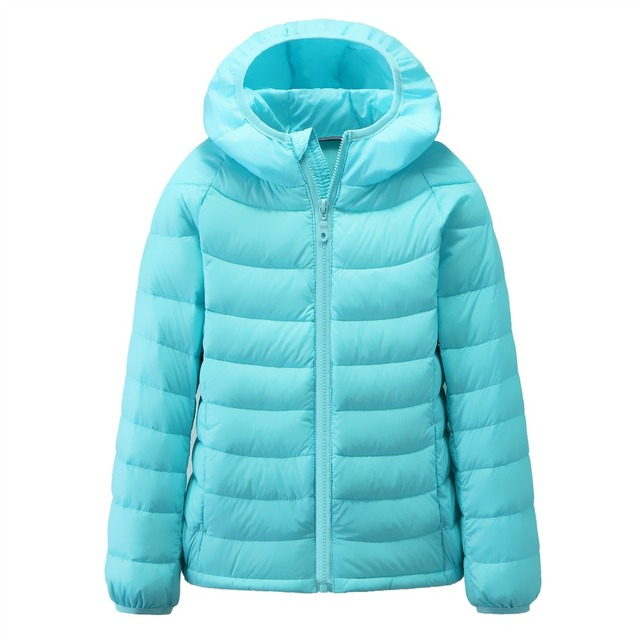 Kids Ultra light boys down jacket for girls duck down girls' jacket fashion children ultra light downcoat warm clothes YL254