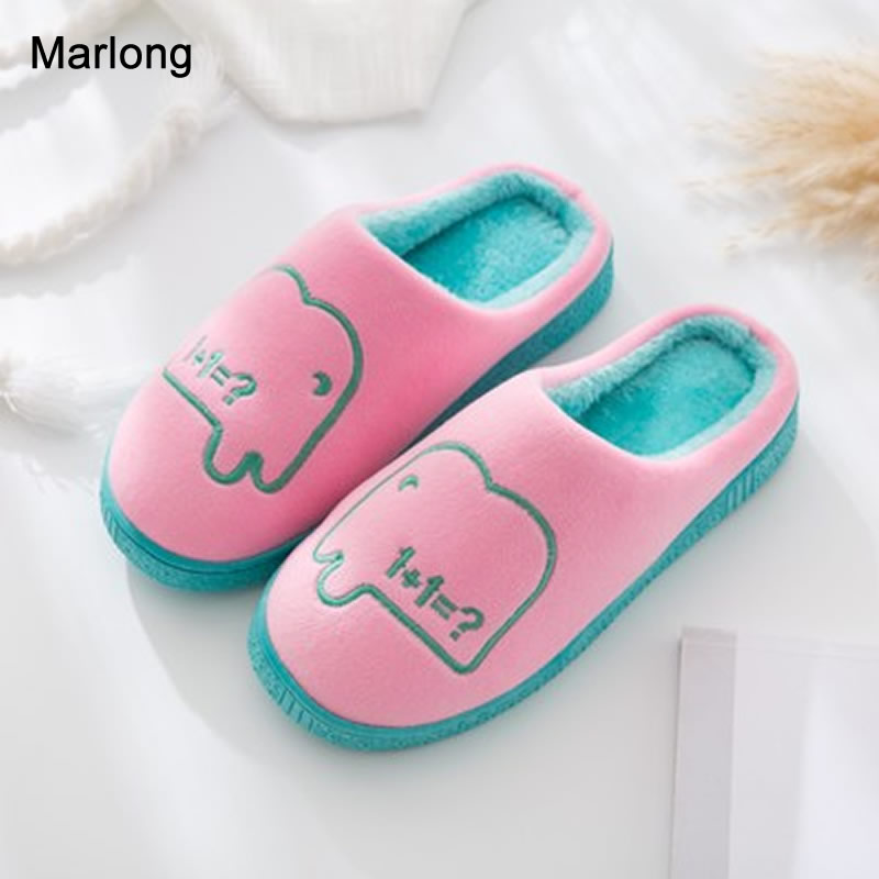 Marlong Winter Home Slipper Women Shoes Warm Indoor Slipper Animal Pattern Cute House Indoor Bedroom Shoes emoji slippers women cute indoor warm shoes adult plush slipper winter furry house animal home cosplay costumes autumn pantoufle