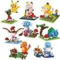 BOB Mini Blocks Pokemon Plastic Blocks Charmander Bricks Pikachu Auction figures Bulbasaur Kids Gift Christmas Present