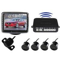 3.5inch digital TFT LCD screen Wireless Parking Sensor system 4 Sensor Rear View radar