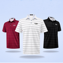 PGM Brand Mens Outdoor dri Fit Golf Polo Shirts Quick Dry short Sleeve Golf T-shirts Clothing sports Shirt