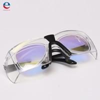NIEUWE Goggles Professionele Beschermende CO2 Laser 10600nm Eyewear Bril Goggles Dubbellaags met Glazen doek Case