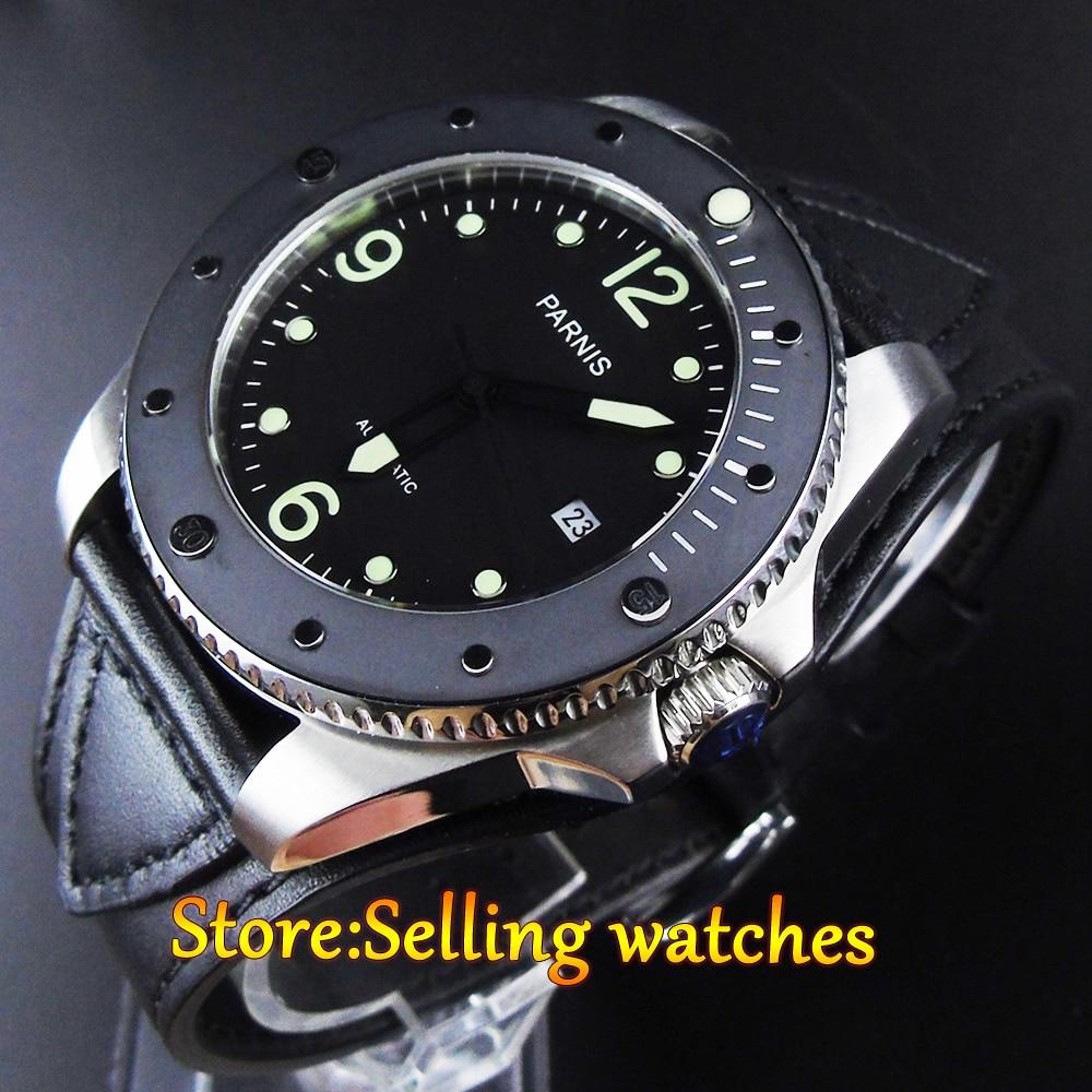P arnis 43มิลลิเมตรไพลินglass10ATM MIYOTAอัตโนมัติmens watch-ใน นาฬิกาข้อมือกลไก จาก นาฬิกาข้อมือ บน   1