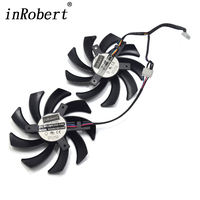 A Pair PLD09210S12HH DC 12V 0 40A 85mm VGA Fan 4Pin Cooling Fan For XFX R9