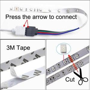 Image 3 - LED Strip 2835 SMD RGB เทป 5M 10M 15M 20M DC12V 3528 RGB LED ริบบิ้น DIODE + 24Key Controller + อะแดปเตอร์ EU
