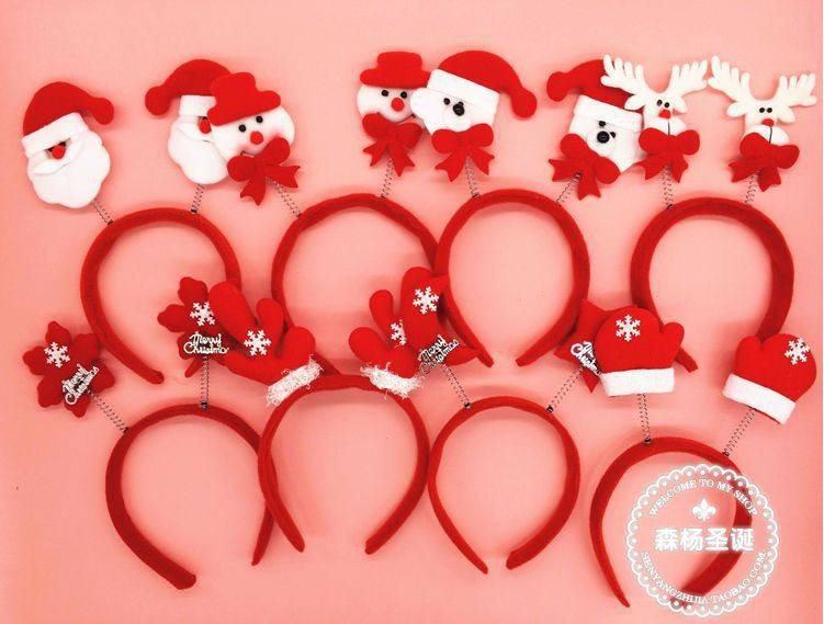 Free Shipping Christmas Head Buckle Party Accessories For Children Decorations New Fashion Hair Hoop CD ZZ PC004 In Headbands From Home