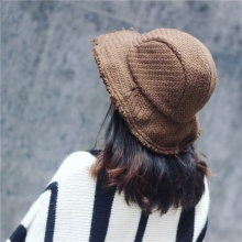 La MaxPa  Winter Tassels Flash Woolen Blend knitting fisherman hat Female  fashion Keep Warm b8302dcaa45d