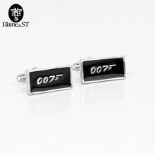 British Series Spy Film 007 Cuff Links Black Alloy 007 LOGO James Bond Cuff Links Men's shirt Cufflinks For Wedding Jewelry