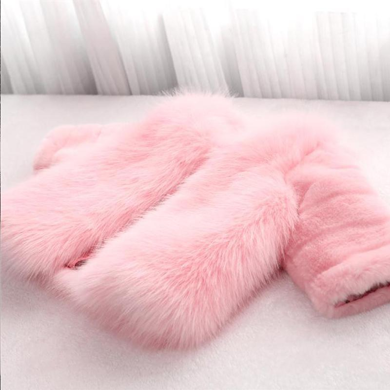 Fashion Kids clothes winter fur coat for girls baby clothes parka elegant clothing for girls girl outerwear luxury faux fur 2018 new baby girls winter coat faux fox fur children clothing jackets thicken warm coat parka for boy fashion kids outerwear w1