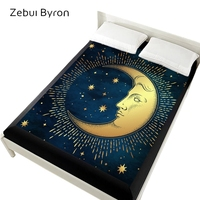 160x200 Fitted Sheets,3D Bed Sheets On Elastic Band Bed,150x200/180x200 Mattress Cover for bed.Bedsheet Bedding,Bed Linen moon