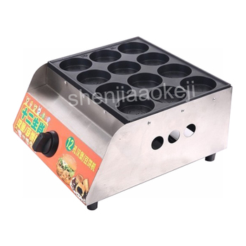 Commercial 12-holes egg burger machine Non-stick gas burger stove red bean cake machine gas egg burger furnace 1pc фото