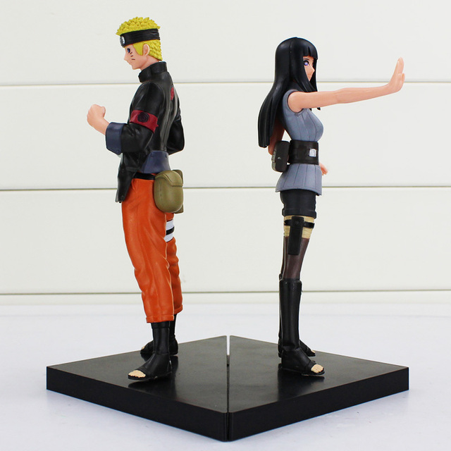 Naruto 2pcs/lot Anime Uzumaki Hyuga Hinata Solid Set PVC Action Figure Model Collection Toy