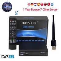 1 Año Europa 7 Clinales Servidor Estable V9S PRO Receptor de Satélite DVB-S2 H.264 Soporte MPEG-5 powervu bisskey Xtreamcodes IPTV V9S