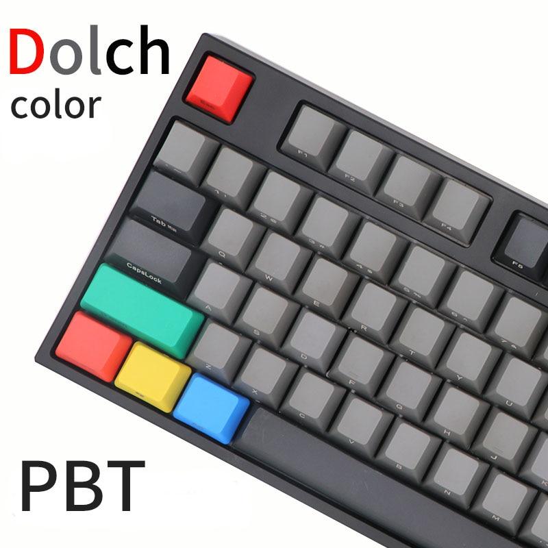 PBT Keycaps Mx-Switches-Of-Mechanical-Keyboard Cherry Dolch Black 87key-61key Mix BGKP