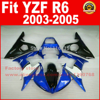Motorcycle parts for YAMAHA R6 2005 2003 2004 fairing kit black blue YZF R6 fairings kits 03 04 05 7 gifts