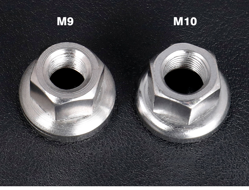 1pc Titanium Bicycle M9 M10 fixed gear nut