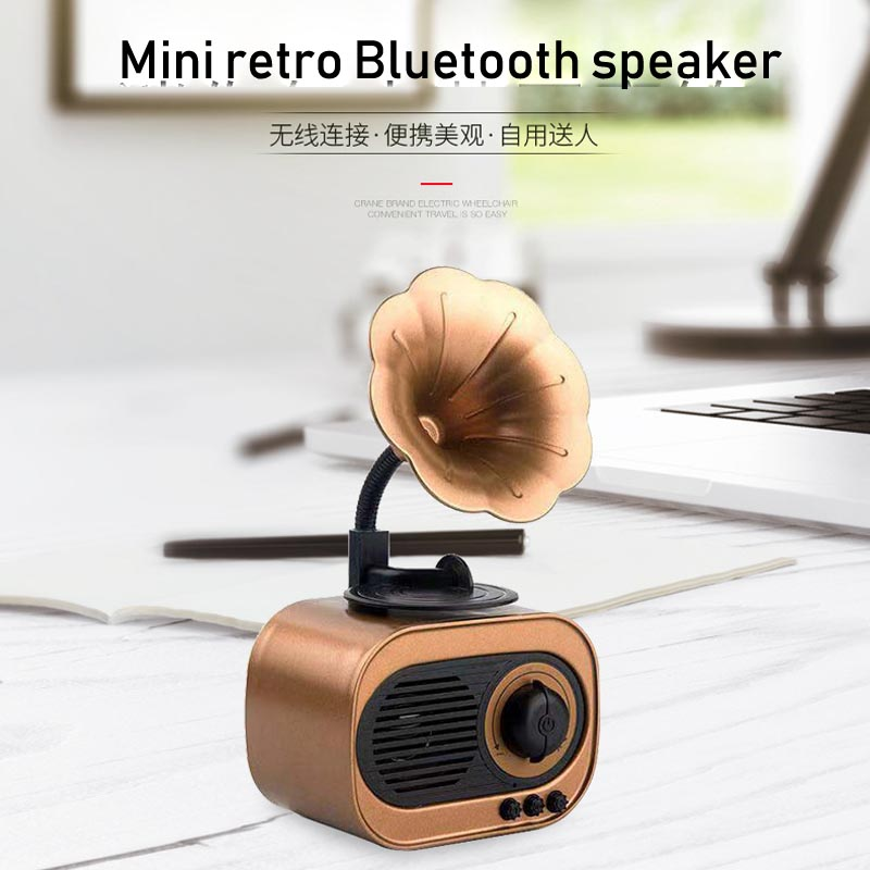 Portable Bluetooth speaker retro model outdoor multi-functional stereo home card