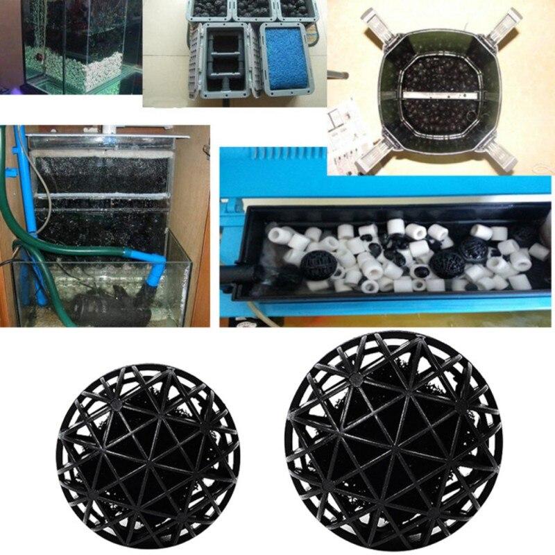 100 PCS Aquarium Bio Balls w/Sponge Filter Media Bag Wet/Dry Koi Fish Pond Reef