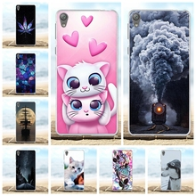For Sony Xperia E5 Cover Ultra-slim Soft TPU Silicone For Sony Xperia E5 Case Cute Cat Patterned For Sony Xperia E5 Bumper Capa sony xperia e5 black