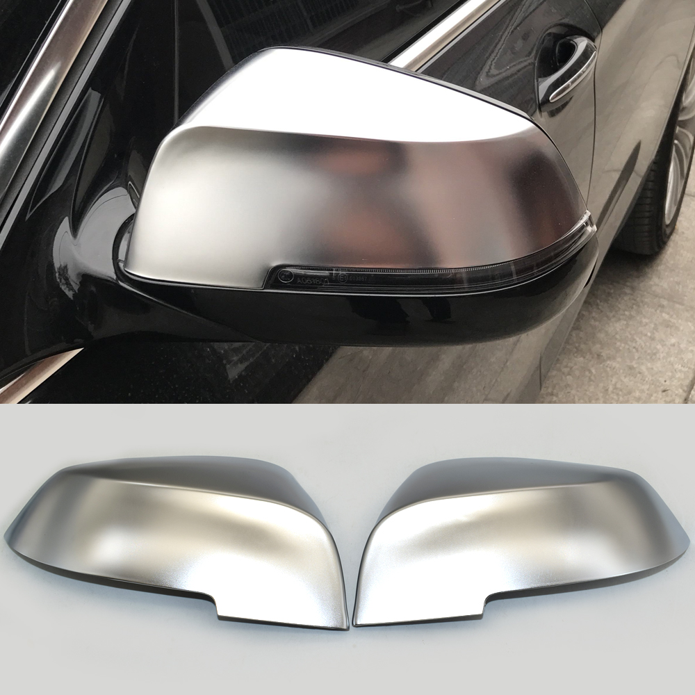 Matt Chrome Mirror Cover Rearview Side Mirror Cap For BMW 1 2 3 4 series F20 F30 F31 F21 F22 F23 F32 F33 F34 F35 X1 E84 Mirror & Covers     - title=