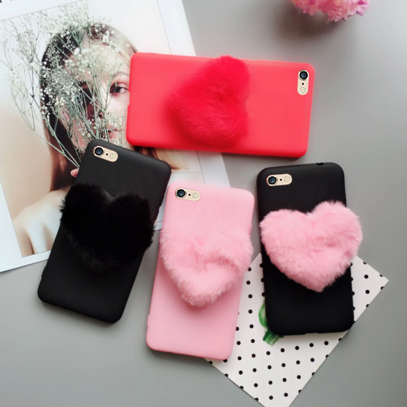 Izyeky Case For Samsung Galaxy J7 2017 J730f 5.5 Eu Fur Fluffy 3d Love Hearts Fashion Silicone Phone Case Cover For J7 2017 Moderate Price Half-wrapped Case