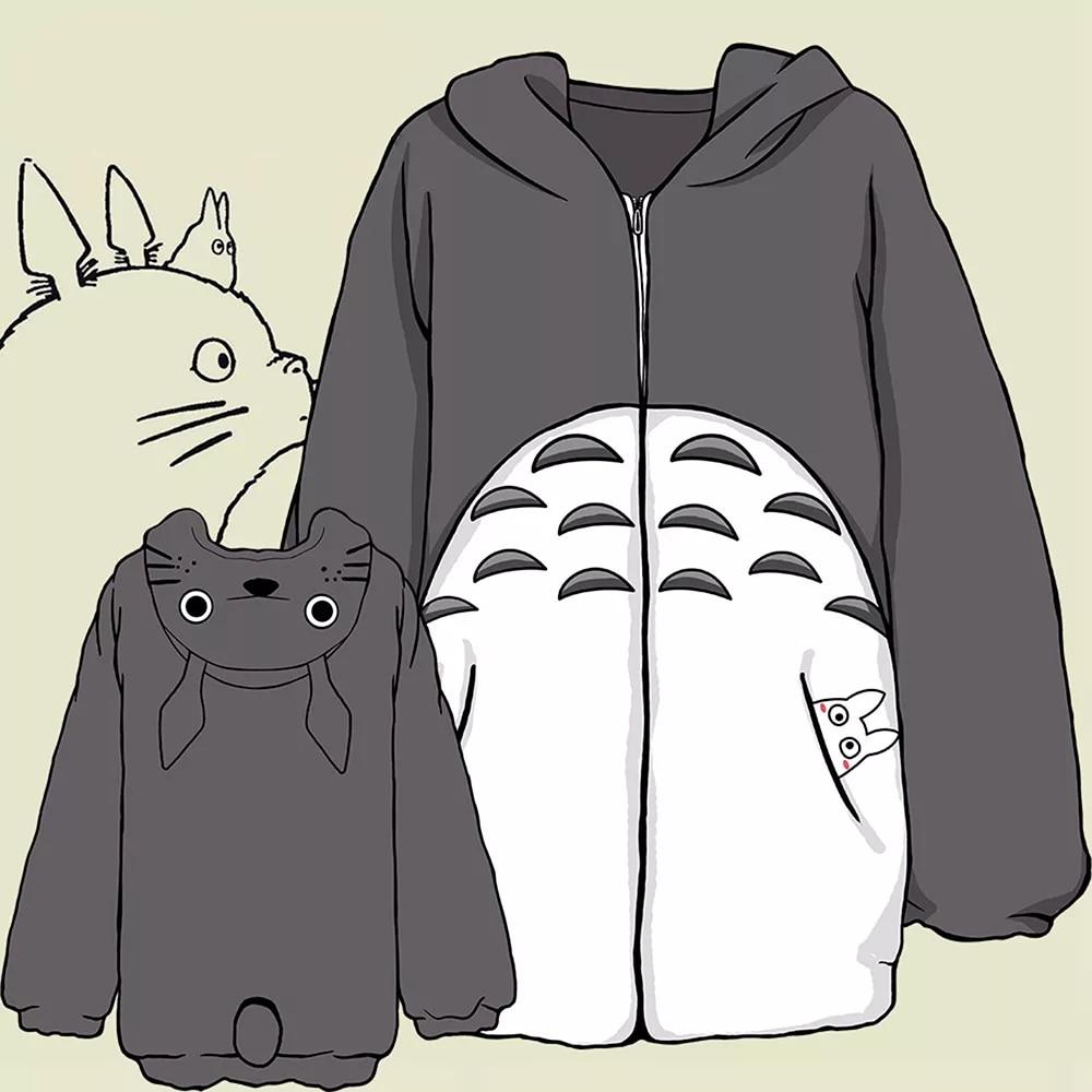 My Neighbor Totoro Hoodie Cosplay Totoro Costume Anime Sweatshirts Jacket