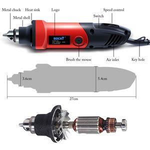 Image 3 - BDCAT 6 мм 400 Вт мини электрическая дрель, гравер с 6 позициями с переменной скоростью вращающихся инструментов Dremel с гибким валом
