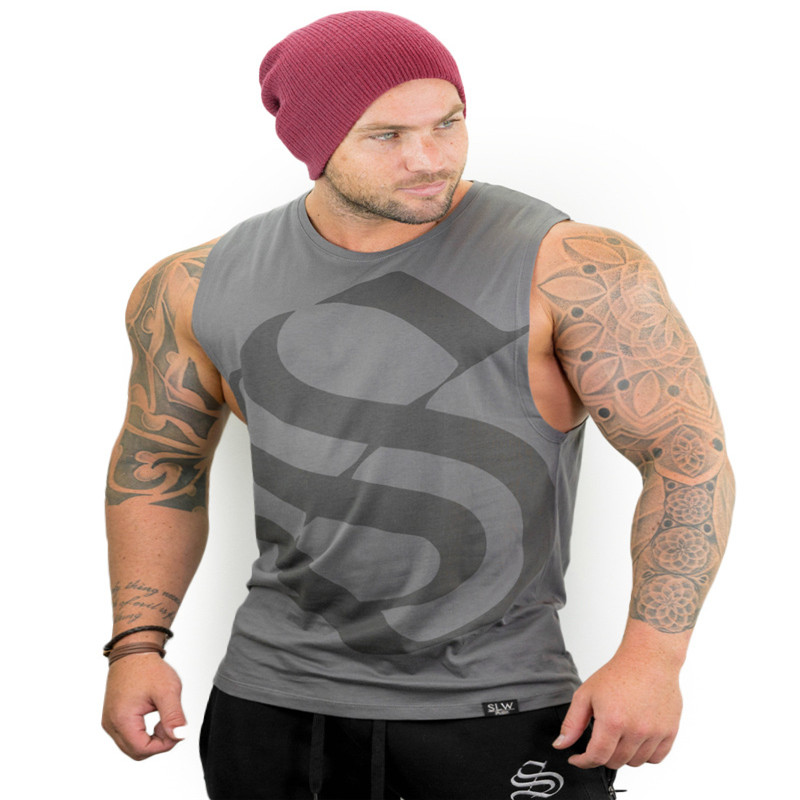 MENAnimal Stringers Mens   Tank     Tops   Sleeveless Shirt,tanktops Bodybuilding and Fitness Men's Singlets workout Clothes