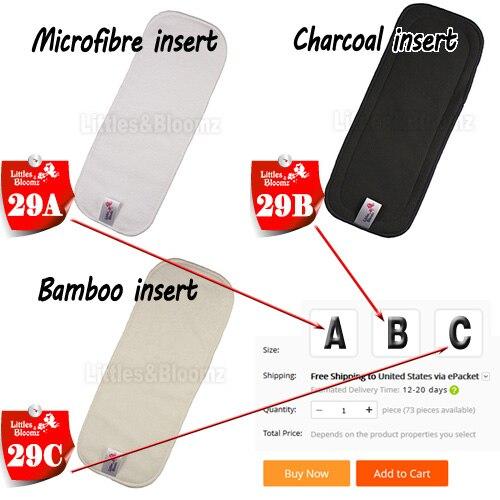 [Littles& Bloomz] Детские Моющиеся Многоразовые Тканевые карманные подгузники, выберите A1/B1/C1 из фото, только подгузники/подгузники(без вставки - Цвет: 29