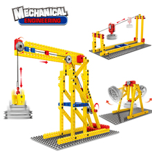 MEOA 3901 3 IN 1 Deformation Series Engineering Machinery Building Blocks Bricks Dynamics Learning Model Set Compatible Duplo