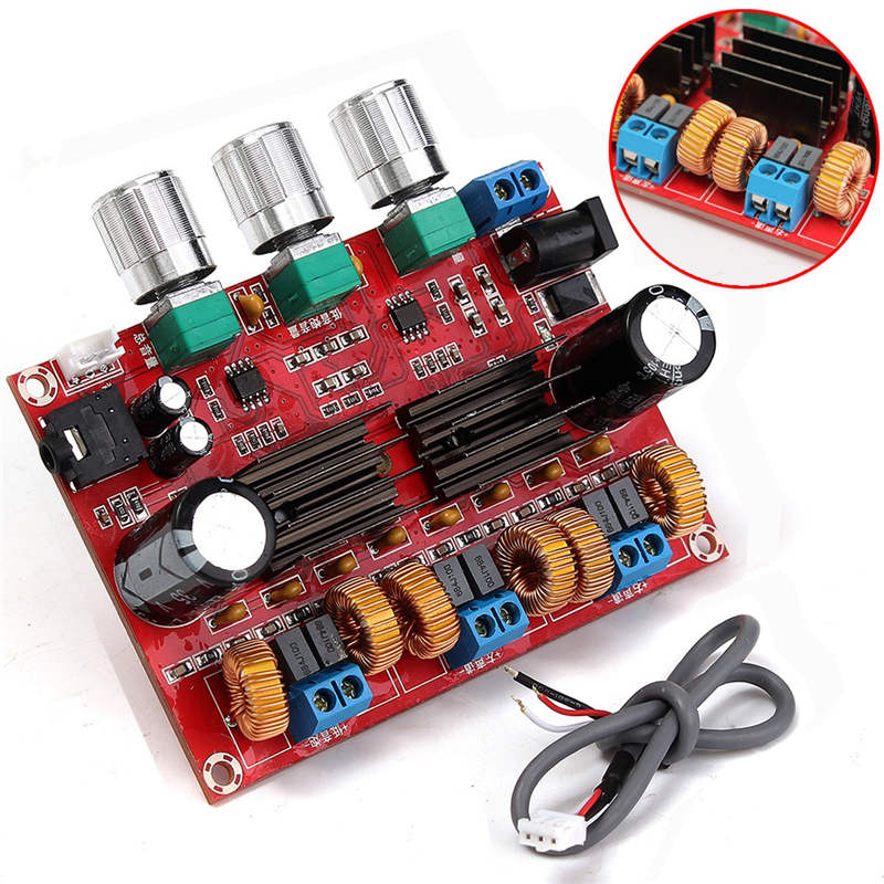 TPA3116D2 50Wx2+100W 2.1 Channel Digital Subwoofer Power Amplifier Board 12~24V Amplifier Boards Modules