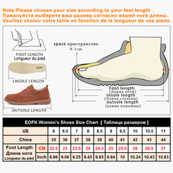 EOFK Spring Autumn Women Moccasins Women's Flats Genuine leather Shoes Woman Lady Loafers Slip On Suede Shoes mocasines mujer 6