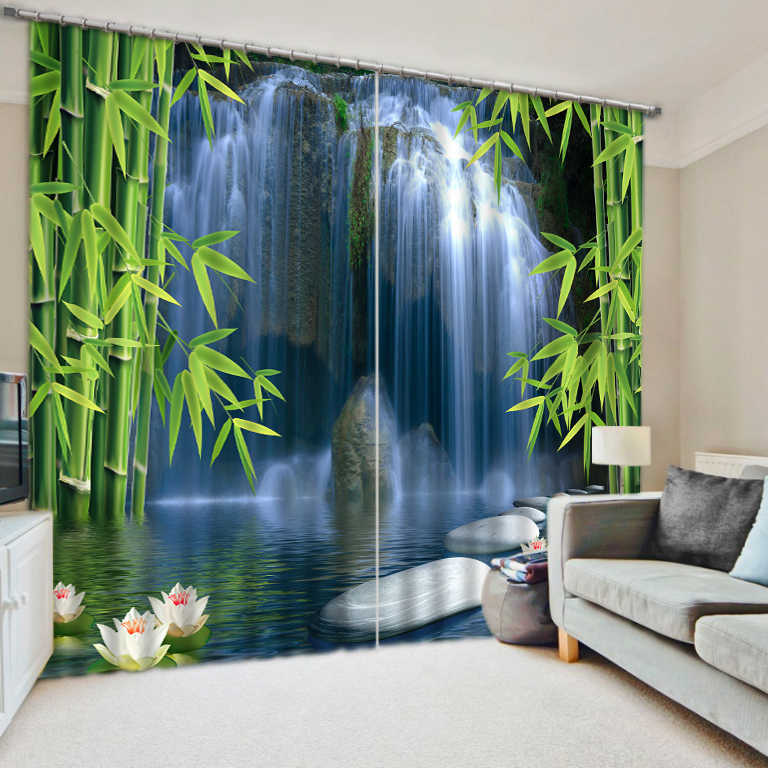 3D Curtain Luxury Blackout Window Curtain Living Room waterfall curtains Blackout curtain