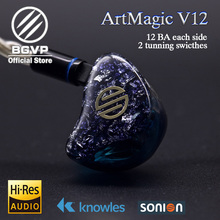 BGVP 2019 New Series Customizable In Ear Monitors ArtMagic V12 HIFI Earphones Balanced Armature Drivers