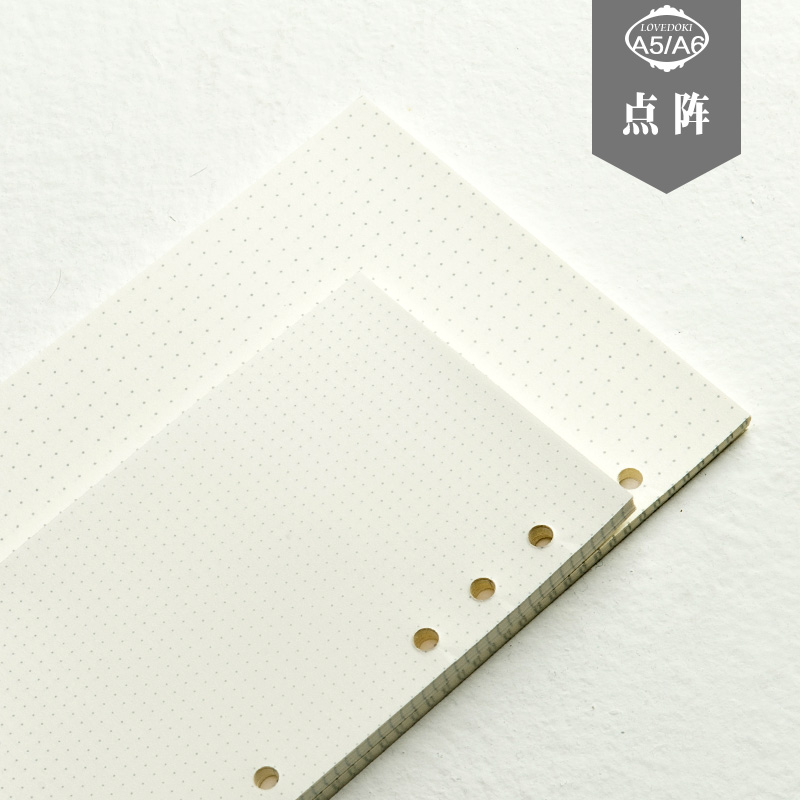 Dokibook Free shipping 2016 new notebook papers A5 A6 pages planner filler agenda inside  paper matching filofax kikkik hot sale