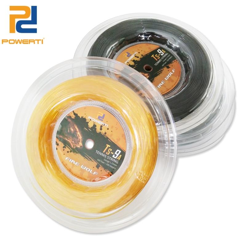 Powerti  1.25mm Tennis String High Elasticity Poly Tennis Racket String Black Durable 200m Reel 56-59Pounds TS-9A