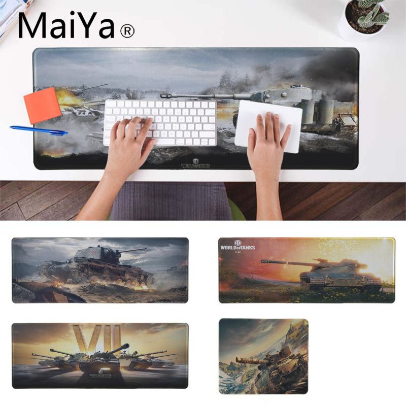 Maiya World of Tanks Mice Mousepad Large gaming Mouse Pad Lockedge Mouse Mat For Laptop Computer Speed Version Game Keyboard Pad Mouse Pads     - title=
