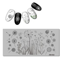 1pc Dandelion Nail Template Tropical Plant Leaf Stamping Flamingo Stamp Plate Manicure Tools