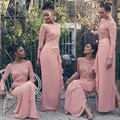 Sparkly Chiffon Sequined Junior Bridesmaid Dresses 2016 New Arrival Floor-Length Lace Long Sleeves Bridesmaid Dress Custom made