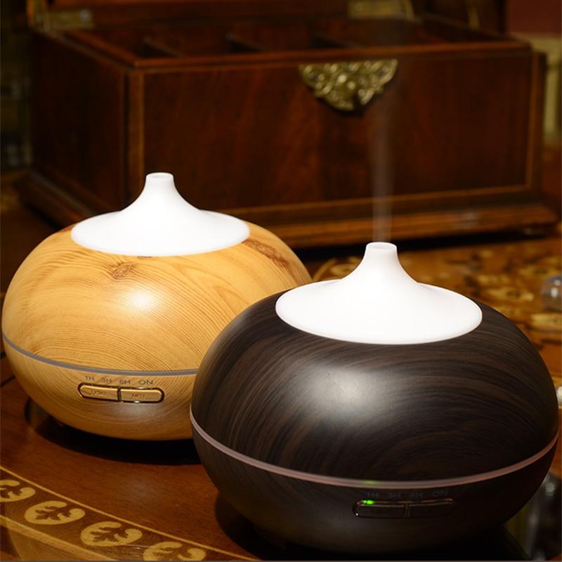 10 шт. 300 мл увлажнитель воздуха Эфирные масла диффузор аромалампу Ароматерапия Электрический Арома диффузор Mist чайник для дома-дерево