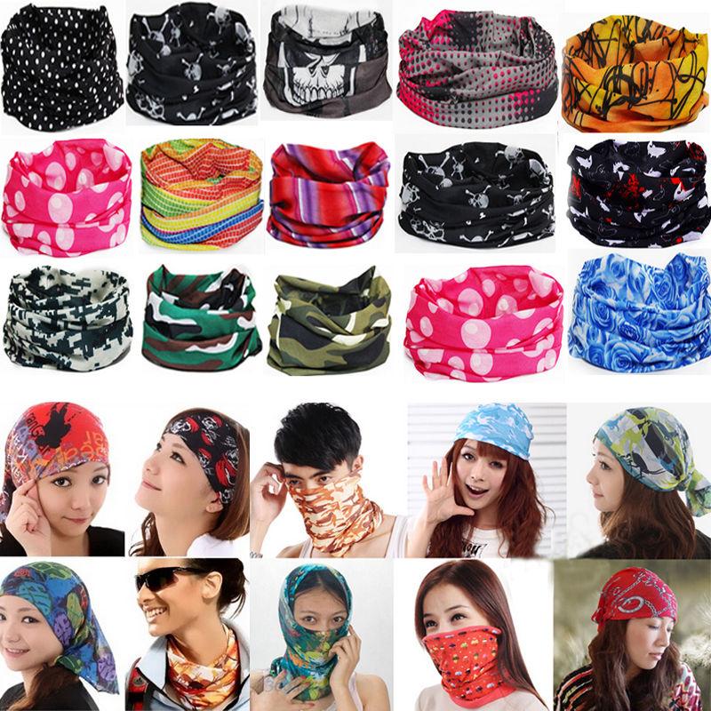 Распродажа Универсальная Многофункциональная бандана унисекс волшебный шарф маска для лица Манишка головной убор на запястье