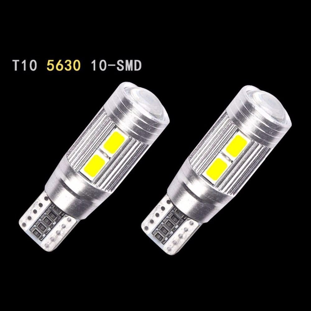 CYAN SOIL BAY 2X T10 W5W 194 10 LED 5630 SMD Car Reading Lamps No Error Auto Parking Lights Wedge Bulbs Blue White Amber Red cyan soil bay 1x canbus error free white t10 5630 6 smd wedge led light door dome bulb w5w 194 168 921 interior lamp
