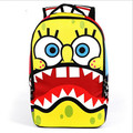 2016 New Cartoon SpongeBob Printing Children School Backpack,Boys/Girls Travel Mochila,Kids Laptop Bag