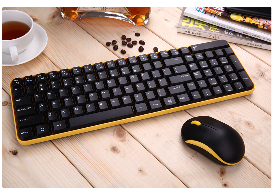 maorong trading 2 4g wireless external keyboard and mouse combo for lenovo for dell for hp for. Black Bedroom Furniture Sets. Home Design Ideas
