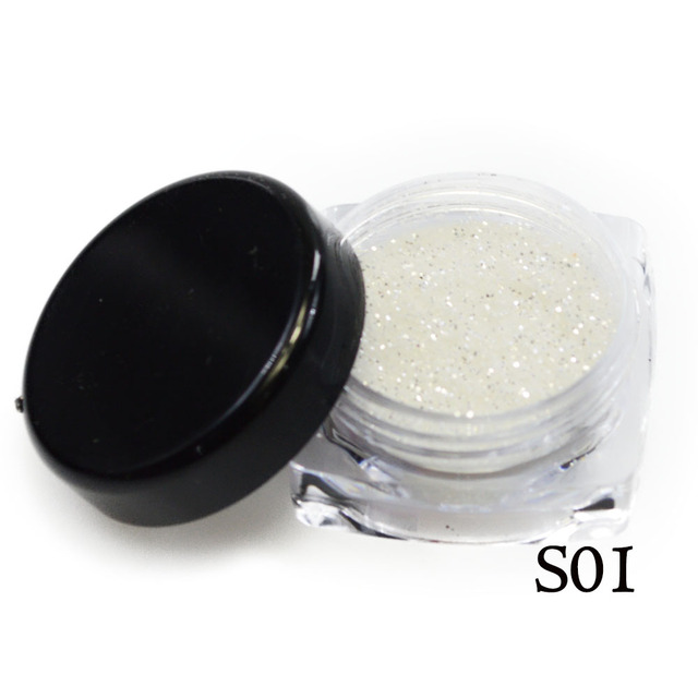1 Bottle Shining Gold Silver Nail Glitter Powder Dust 3D Sequins For Nail Art Dust Flakes Decorations UV Gel Polish Tips BEGS 2