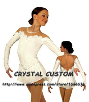 Hot Selling Ice Skating Dresses For Girls Spandex Graceful New Brand Figure Skating Competition Dress Customized DR2653