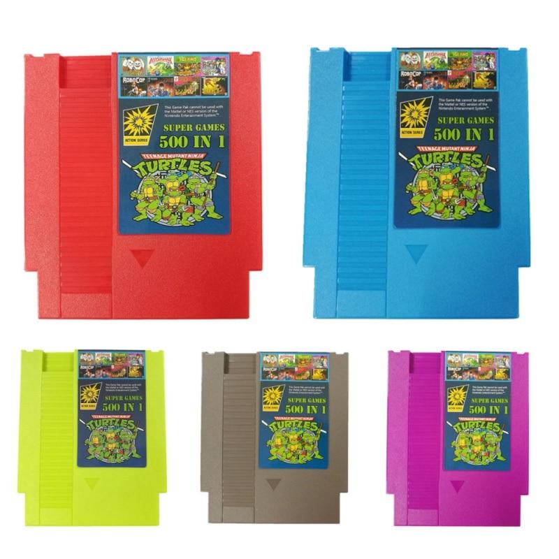 500 em 8 1 Super Jogo Cartões de Memória Bit Jogos de Cartucho Para Cartucho Clássico NES Jogos Acessórios