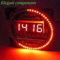 ГОРЯЧАЯ DS1302 Вращающийся СВЕТОДИОДНЫЙ Дисплей Сигнализации Электронные Цифровые Часы Модуль СВЕТОДИОДНЫЙ Дисплей Температуры DIY Kit 51 СКМ Обучения Доска 5 В