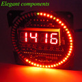 Módulo de Reloj DS1302 CALIENTE Giratoria Pantalla LED de Alarma Electrónica Digital LED Indicador de Temperatura Kit DIY 51 Tablero de Aprendizaje SMC 5 V