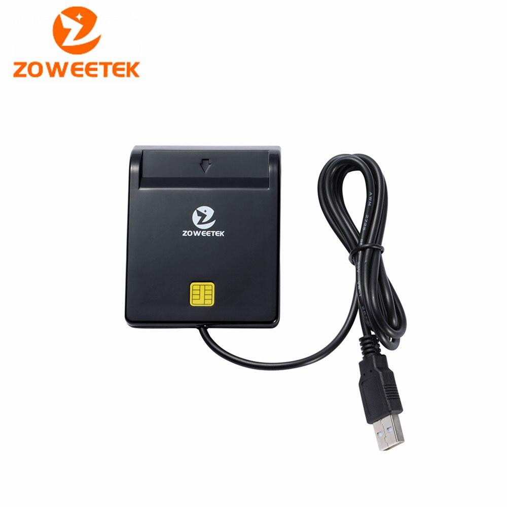 Zoweetek 12026-1 ISO 7816 lector de tarjetas inteligentes/tarjeta bancaria EMV/ID para teléfonos Android Y Tablet
